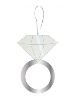 slant diamond ring petite pinata