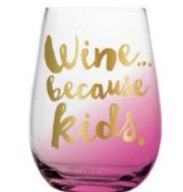 slant because kids 20oz stemless wine glass