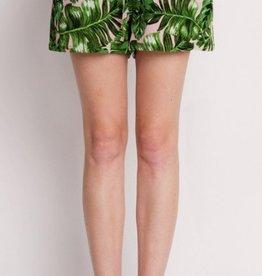 cezanne leaf print shorts FINAL SALE