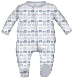 Magnificent Baby magnetic blue dancing elephants modal footie