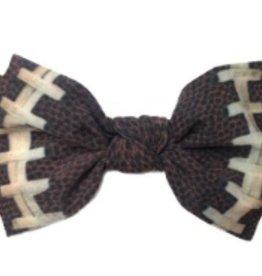 Baby Bling football printed knot headband
