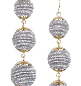 judys accessories triple ball earrings