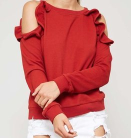 promesa hazel cold shoulder top