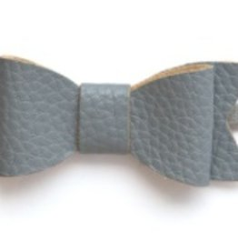 Baby Bling grey leather bow tie skinny