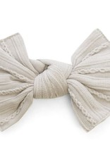 Baby Bling taupe cable knit knot