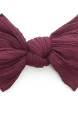 Baby Bling burgandy cable knit knot