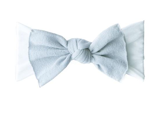 Baby Bling silver metallic knot