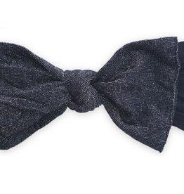 Baby Bling black metallic knot