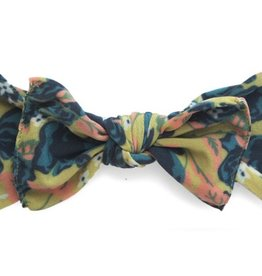Baby Bling fall vintage rose printed knot