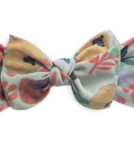 Baby Bling fall flower printed knot
