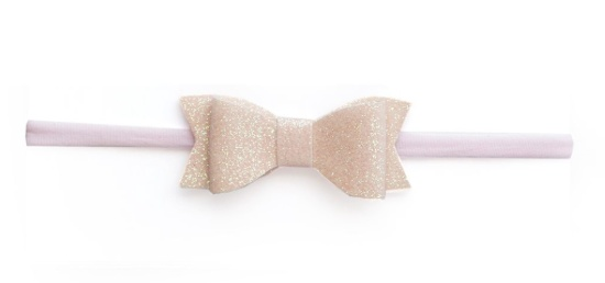 Baby Bling pink glitter bow tie skinny