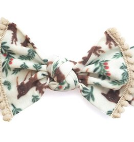 Baby Bling reindeer trimmed printed knot FINAL SALE