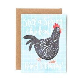 spring chicken birthday card
