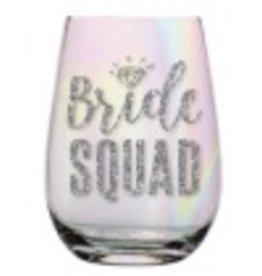 slant 20oz Bride Squad Stemless Wine Glass