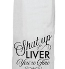 twisted wares shut up liver tea towel