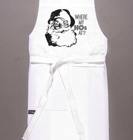 twisted wares where my hos apron - white