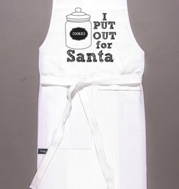 twisted wares put out for santa apron - white