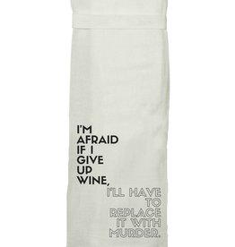twisted wares wine murder towel