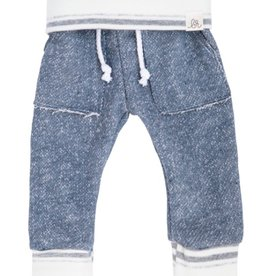 luluandroo slate blue and stone stripe sweats