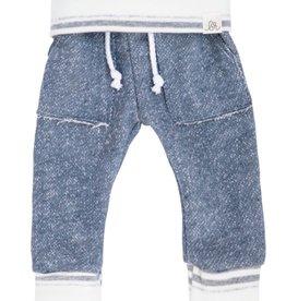 luluandroo slate blue and stone stripe sweats