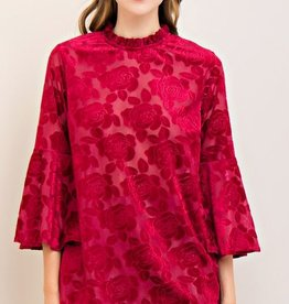entro velvet burnout floral top