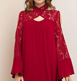 entro bell sleeve dress