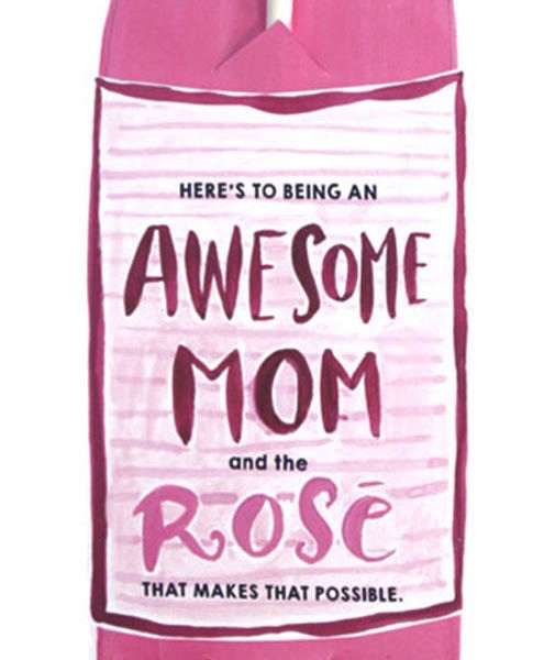 curly girl design awesome mom bottle straw card