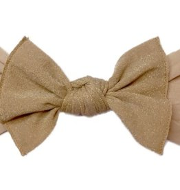 Baby Bling metallic knot headband: blush