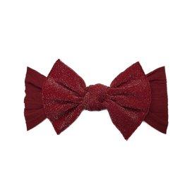 Baby Bling metallic knot headband: cherry