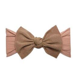 Baby Bling metallic knot headband: rose gold