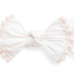 Baby Bling trimmed classic knot: ballet pink