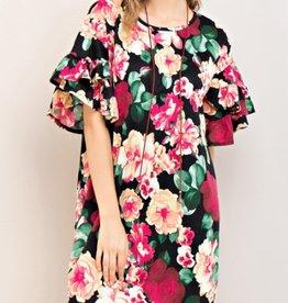 entro jaqueline floral print dress