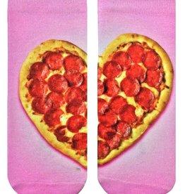 living royal heart pizza ankle socks