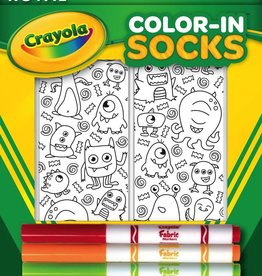 living royal monster party color-in socks