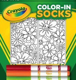 living royal flower fun color-in socks