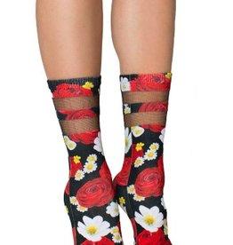 living royal rosey dreams mesh socks