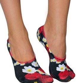 living royal rosey dreams liner socks