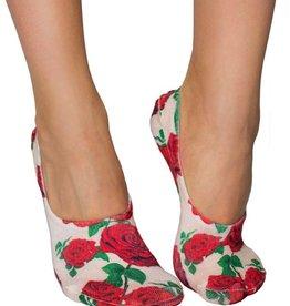living royal red roses liner socks
