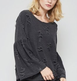 promesa danielle distressed top