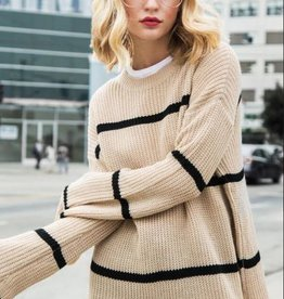 promesa sheila striped sweater