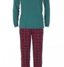 kickee pants mens long sleeve pajama set in plaid