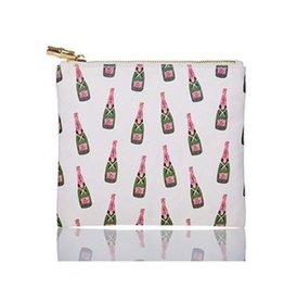 packed party champagne zipper pouch