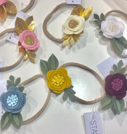 bobana boutique single felt flower headband