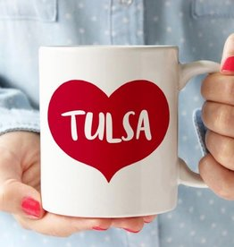 rock scissors paper tulsa big red heart mug