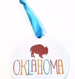rock scissors paper oklahoma buffalo ornament