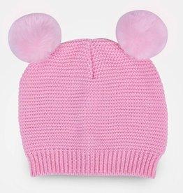 waddle lt pink pom pom baby beanie 6-12 months