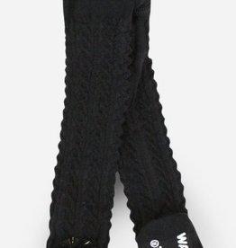 waddle black pom pom rattle tights