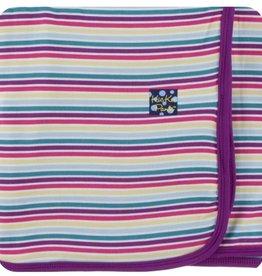 kickee pants girl perth stripe swaddling blanket