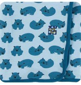 kickee pants pond wombat swaddling blanket