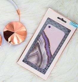 casery light purple agate iphone case 8plus/7plus/6plus